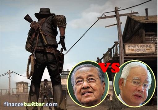 Sheriff Najib vs Sheriff Mahathir - Gunfight
