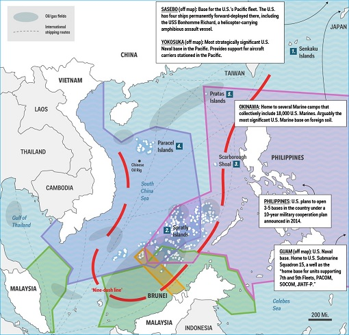 South China Sea - Nine Dash Line Territorial Disputes