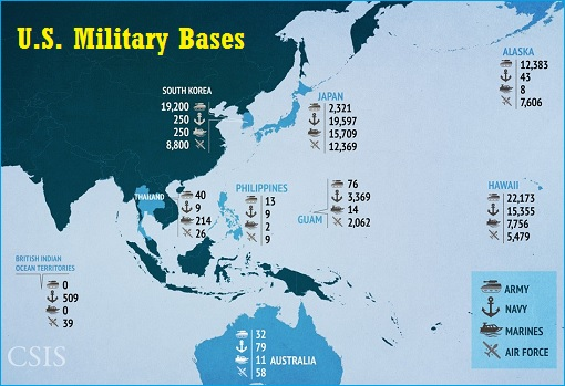 United States US Military Bases - Asia
