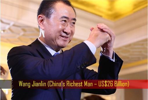Wang Jianlin - China's Richest Man – US$26 Billion