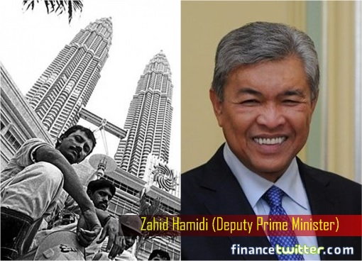 Zahid Hamidi and Bangladesh Worker at KLCC Suria