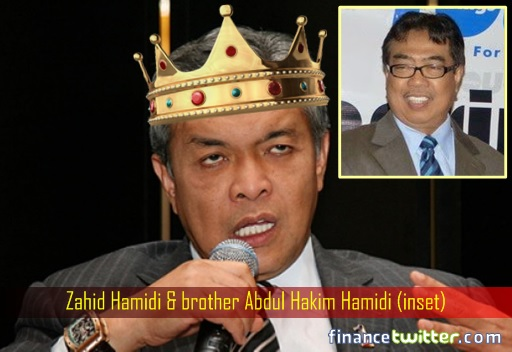 Zahid Hamidi and brother Abdul Hakim Hamidi