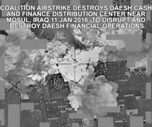 Airstrike Destroy ISIS Cash and Finance Distribution Center - Video