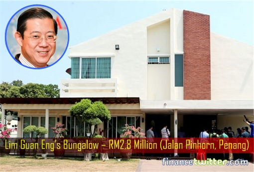 Lim Guan Eng Bungalow – RM2.8 Million (Jalan Pinhorn, Penang)