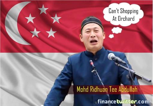 Mohd Ridhuan Tee Abdullah - Cries - Cannot Shopping at Orchard Singapore