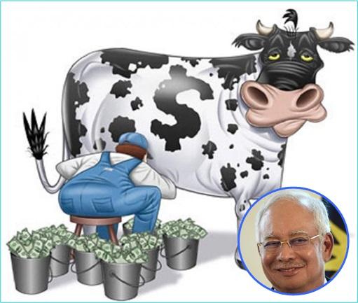 Najib Razak Milking Cash Cow