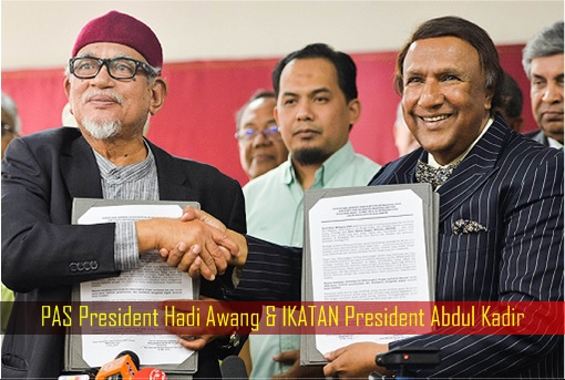 PAS President Hadi Awang & IKATAN President Abdul Kadir