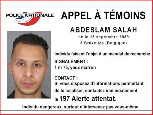 Paris Terror Attack - Salah Abdeslam - International Police Photo