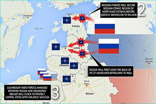 Russia Mock Attack On Estonian and Latvian capitals of Tallinn and Riga