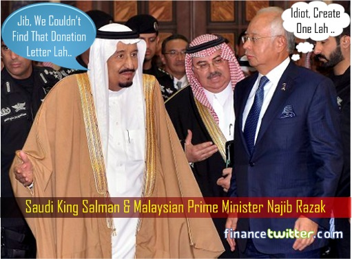 Saudi Arabia King Salman and PM Najib Razak - Donation Letter Discussion