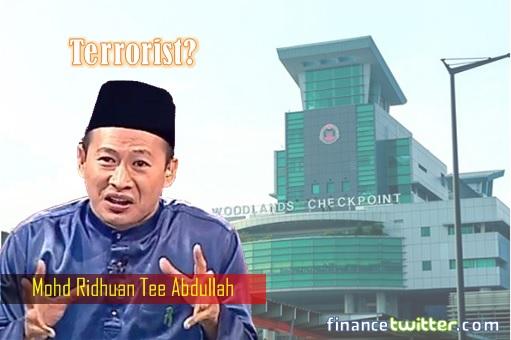 Singapore Woodland Checkpoint - Ridhuan Tee Abdullah - Terrorist