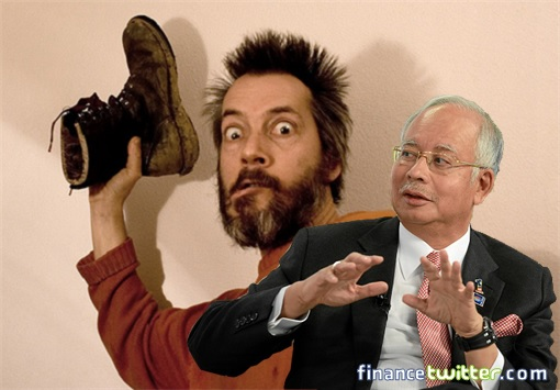 Threaten To Throw Shoe At Najib Razak
