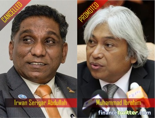 Bank Negara Malaysia - Central Bank - New Governor - Cancelled Irwan Serigar Abdullah and Promoted Muhammad Ibrahim