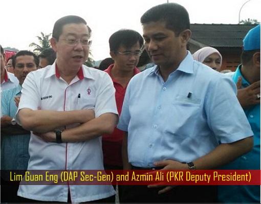 Lim Guan Eng (DAP Sec-Gen) and Azmin Ali (PKR Deputy President)