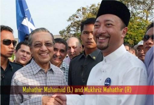 Mahathir Mohamad and Mukhriz Mahathir