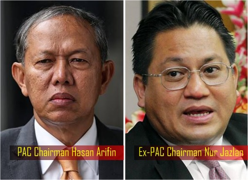 Malaysia PAC Public Accounts Committee Chairman - Hasan Arifin and Nur Jazlan