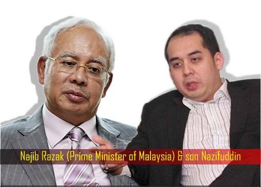 Najib Razak (Prime Minister of Malaysia) and son Nazifuddin