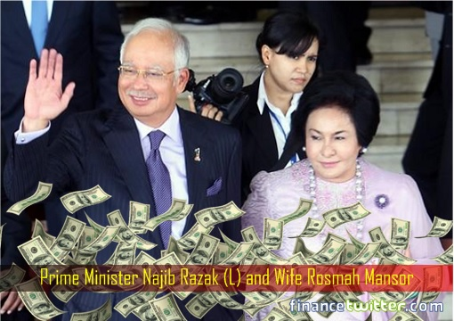 Najib Razak and Rosmah Mansor - Raining Money