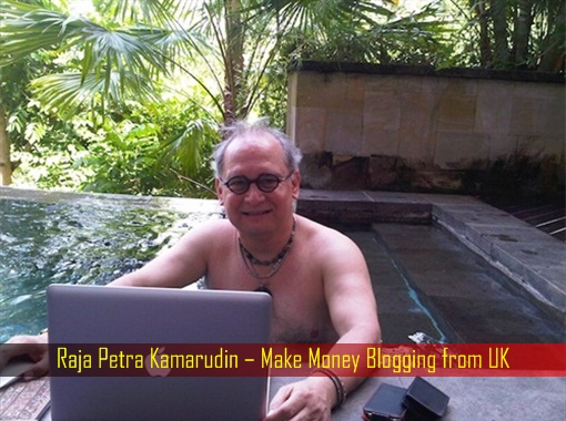 Raja Petra Kamarudin - Make Money Blogging from UK - swimming pool