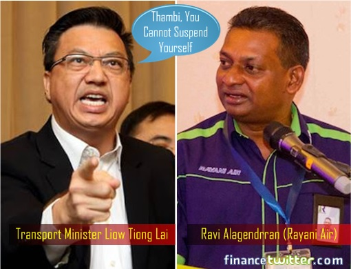 Rayani Air - Liow Tiong Lai and Ravi Alagendrran - Cannot Suspend Itself