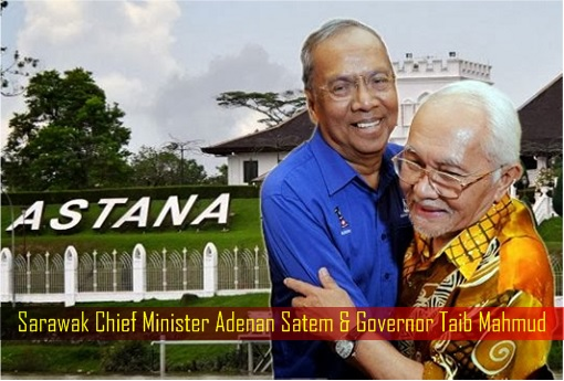 Sarawak Chief Minister Adenan Satem and Governor Taib Mahmud