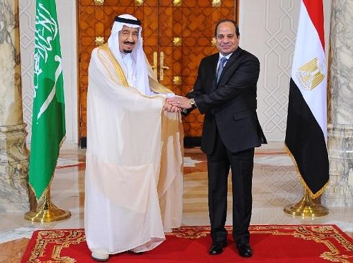 Saudi Arabia King Salman meets with Egyptian President Abdel Fattah Al-Sissi - Standing Pose