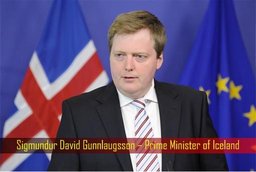 Sigmundur David Gunnlaugsson – Prime Minister of Iceland