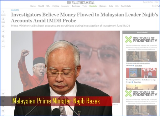 The Wall Street Journal - Money Flowed To Najib Account - Najib Razak Sorrow and Sad