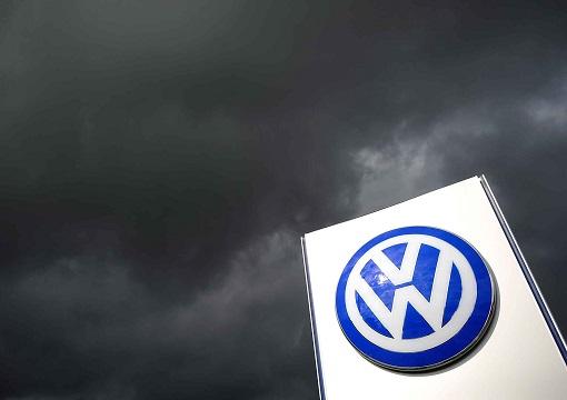 Volkswagen DieselGate - Logo in Dark Cloud