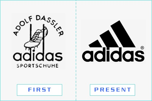 Adidas - First and Present Logo