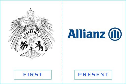 Allianz - First and Present Logo