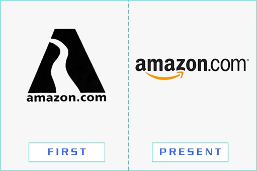 Amazon - First and Present Logo