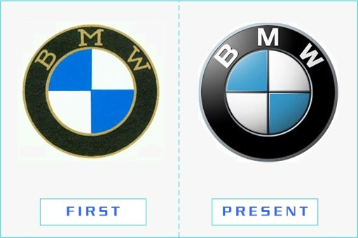 BMW - First and Present Logo