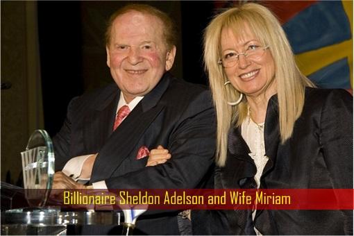 Billionaire Sheldon Adelson and Wife Miriam