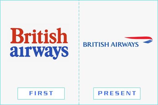 British Airways - First and Present Logo