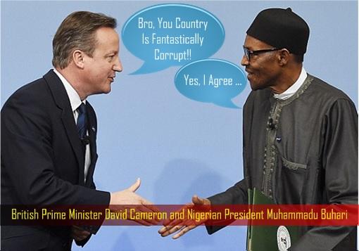 British Prime Minister David Cameron and Nigerian President Muhammadu Buhari