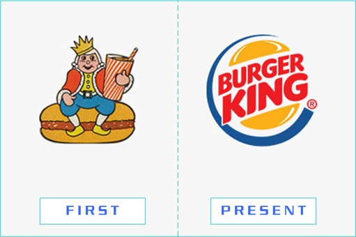 Burger King - First and Present Logo