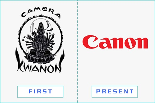 Canon - First and Present Logo
