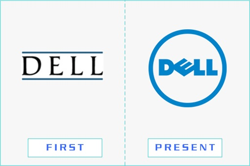 Dell - First and Present Logo