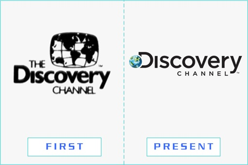 Discovery Channel - First and Present Logo