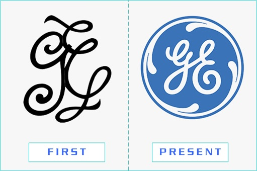 General Electric - First and Present Logo