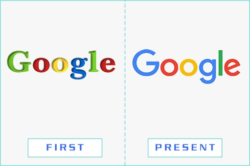 Google - First and Present Logo