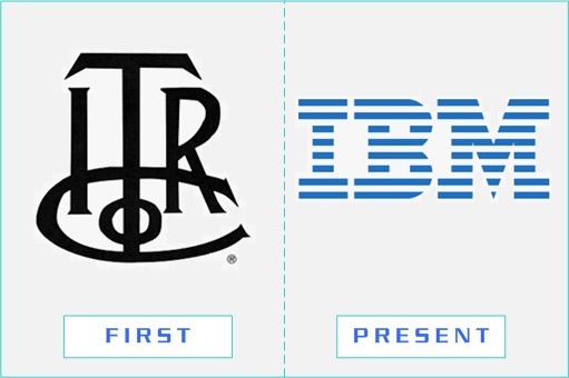 IBM - First and Present Logo