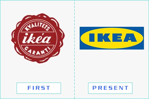 IKEA - First and Present Logo