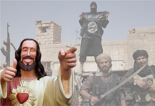 ISIS Islamic State Fighters - Jesus Christ Thumbs Up