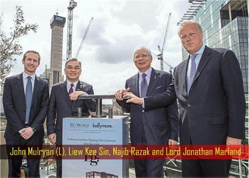 John Mulryan (L), Liew Kee Sin, Najib Razak and Lord Jonathan Marland