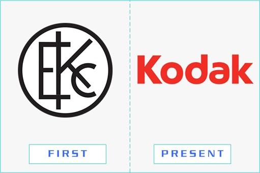 Kodak - First and Present Logo
