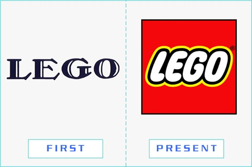 LEGO - First and Present Logo