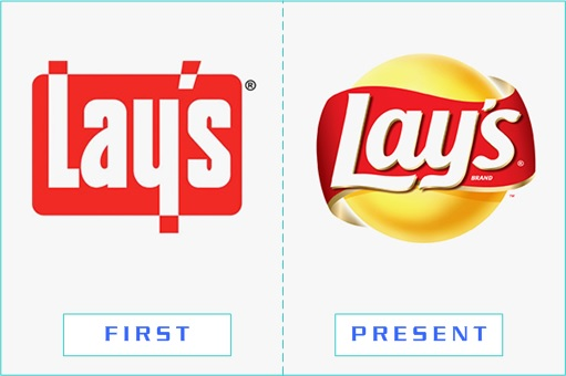 Lay's - First and Present Logo