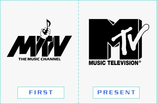 MTV - First and Present Logo